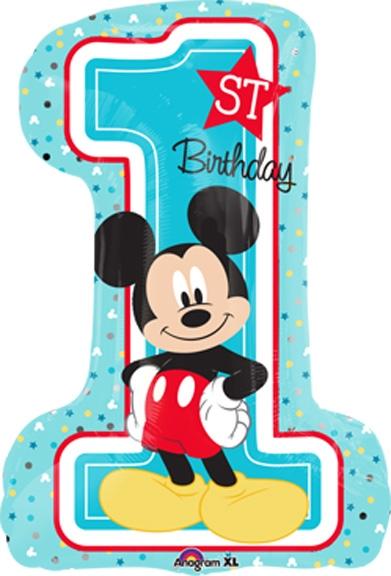 28 inch disney mickey 1st birthday balloon