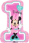 28 inch Disney Minnie 1st Birthday  Balloon