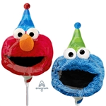 14 inch Cookie Monster & Elmo Mini Shape Head