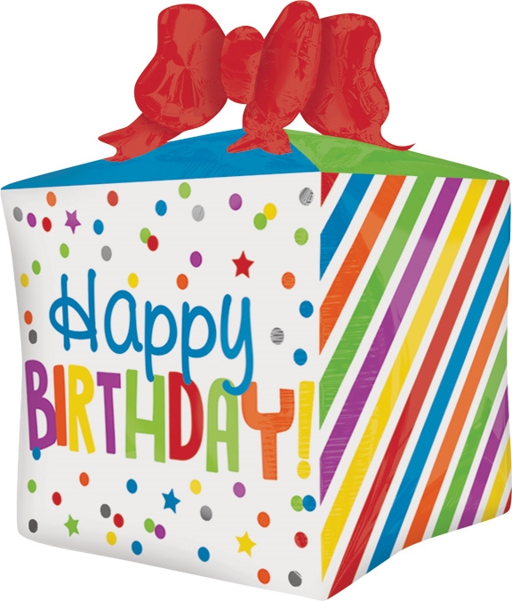 21 Inch Happy Birthday Present Foil Balloon