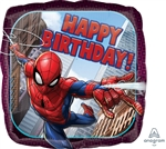 17 inch HX Spider-Man Happy Birthday Foil Balloon