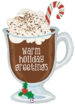 36 inch Holiday Hot Chocolate Foil Balloon