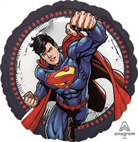 Superman Round Balloon