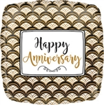 Anniversary Gold Scallop Foil Balloon