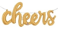 Gold Cheers Script Balloon