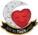 Vintage Moon & Back Love Balloon
