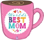 Best Mom Mug Foil Balloon