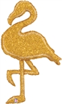 GOLD Glitter Flamingo