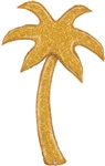 60 inch Gold Glitter Palm Tree
