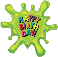 Birthday Splat Foil Balloon