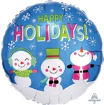 Happy Holidays Snowmen Balloon