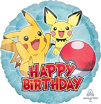 Pokemon Happy Birthday Balloon