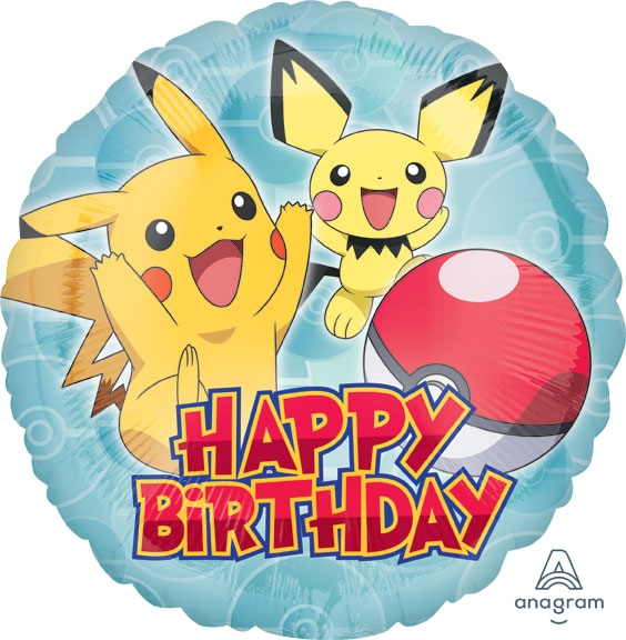 18 Inch Pokemon Happy Birthday Balloon