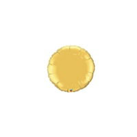 4 inch Round Qualatex Foil GOLD, Price Per EACH, Minimum Order 20
