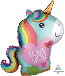 Unicorn Love Foil Balloon