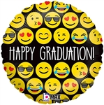 Emoji Graduation Foil Balloon