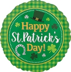 St. Patrick's Day Plaid Foil Balloon