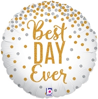 18 inch Glittering Best Day Ever - Holographic