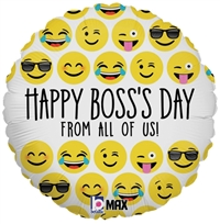 18 inch Emoji Boss's Day Balloon