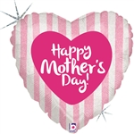 Happy Mother's Day Heart Shape