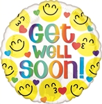 Get Well Soon Emoticons Balloon