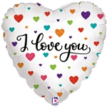 Colorful Hearts I Love You Balloon