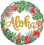 Tropical Aloha Round Foil Balloon