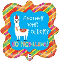 Llama Birthday Holographic Balloon