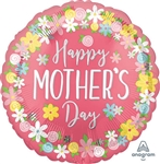 28 inch Happy Mother's Floral Wreath