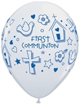 11 inch Qualatex First Communion Symbols-BOY
