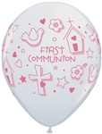 11 inch Qualatex First Communion Symbols-GIRL