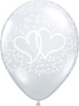 11 inch ENTWINED HEARTS Latex Balloon