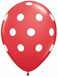 11 inch RED Big Polka Dots
