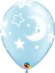 PEARL LIGHT BLUE with Baby Moon & Stars-A-Round