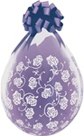 18 inch Flower & Filigree Stuffing Balloon CLEAR