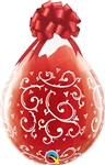 18 inch Qualatex Round FILIGREE and HEARTS-A-Round, Price Per Bag of 25