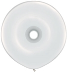 16 inch GEO Donut Qualatex WHITE, Price Per Bag of 25