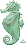38 inch Holographic Seahorse Foil Balloon