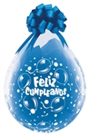 18 inch Qualatex Feliz Cumpleanos DIAMOND CLEAR Stuffing Balloon