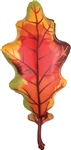 42 inch ORANGE Fall Oak Leaf