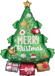 Christmas Tree Gift Garland Foil Balloon