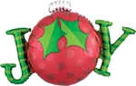 31 inch Joy Ornament Foil Balloon