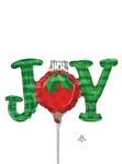 JOY Ornament Foil Balloon