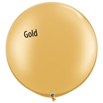 30 inch Qualatex Metallic GOLD