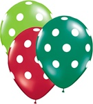 11 inch Big Polka Dots Latex Balloons Assorted