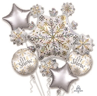 Shining Snow Balloon Bouquet