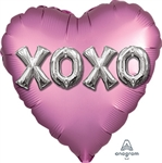 Satin XOXO Balloon Letters Heart Shape Foil Balloon