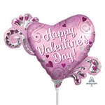 Valentine's Day Heart with Swirls Balloon