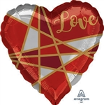 Love Lines Heart Shape Foil Balloon