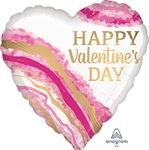 Valentine's Day Watercolor Geode Balloon